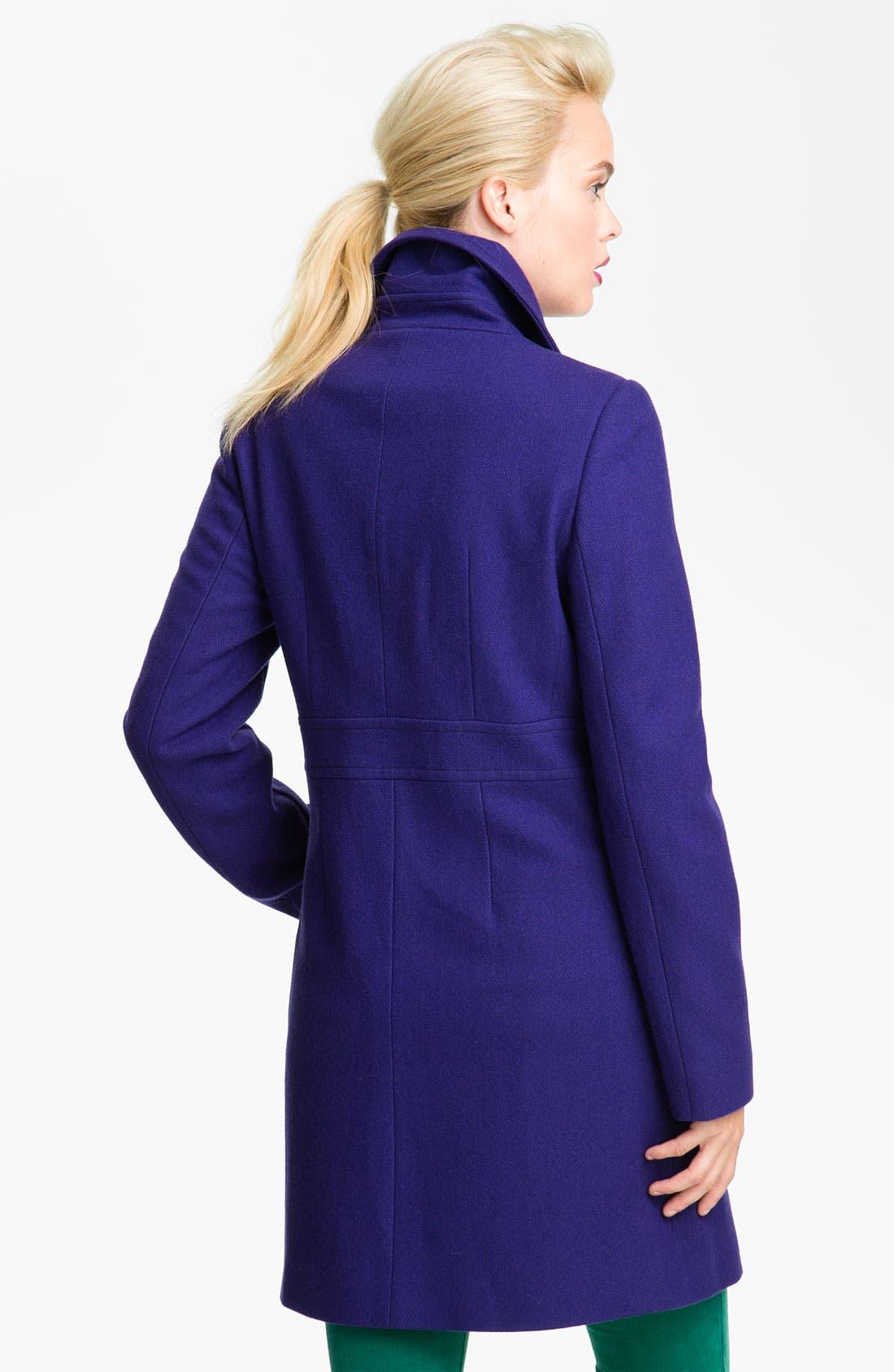Alternate Image 2  - DKNY 'Kendra' Turnkey Wool Blend Coat (Nordstrom Exclusive)
