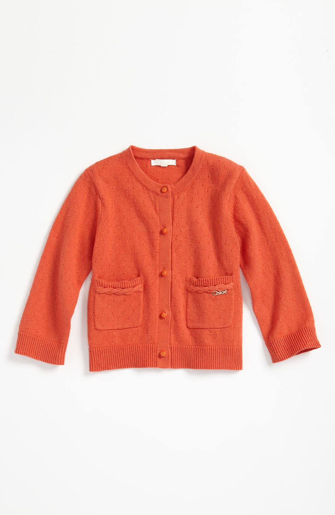 Main Image - Chloé Pointelle Cardigan (Infant)