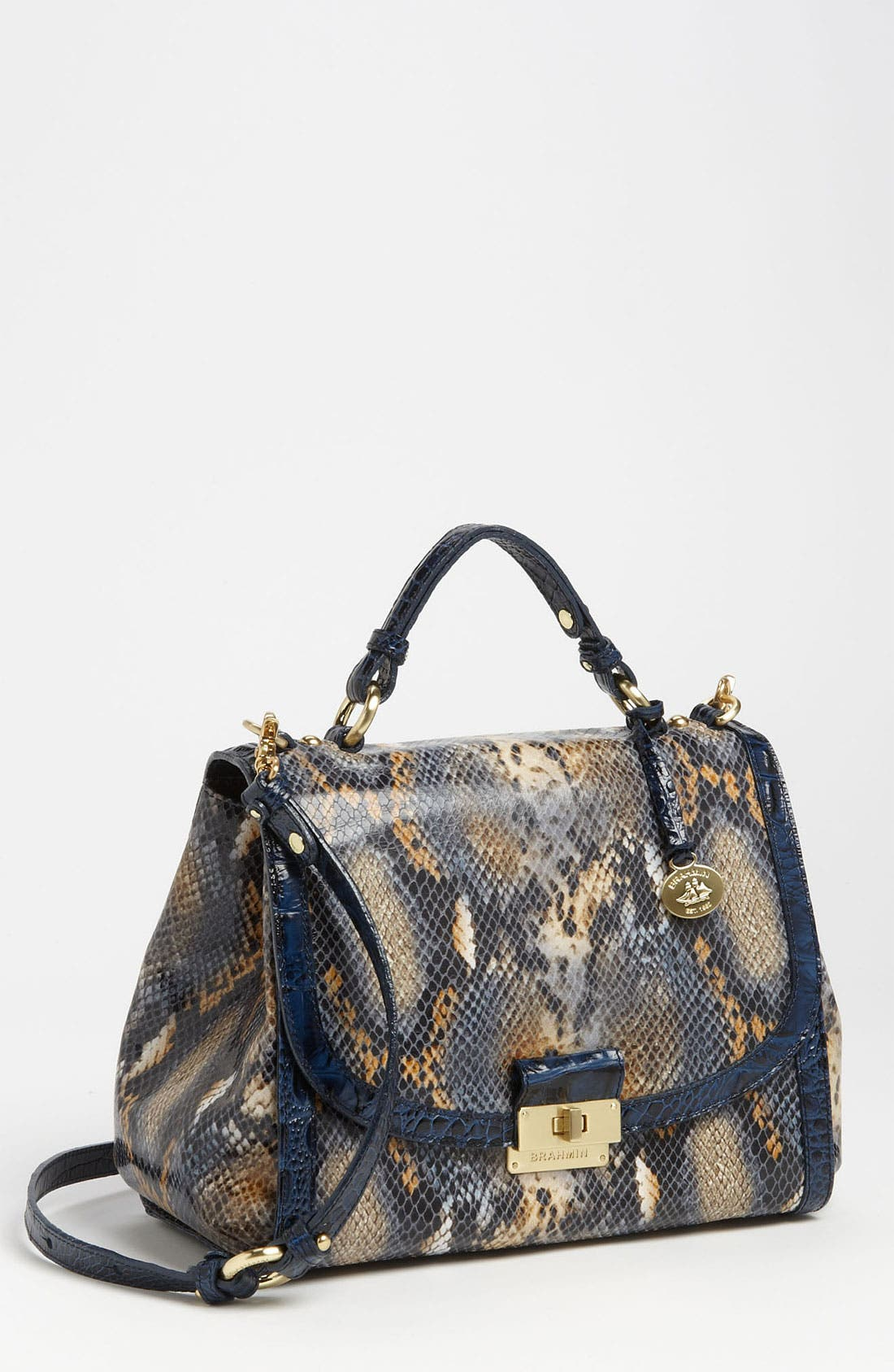 Alternate Image 1 Selected - Brahmin 'Phoebe' Anaconda Embossed Satchel