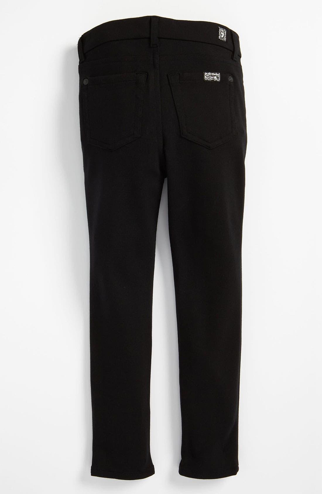 Alternate Image 1 Selected - 7 For All Mankind® Skinny Ponte Knit Pants (Little Girls)