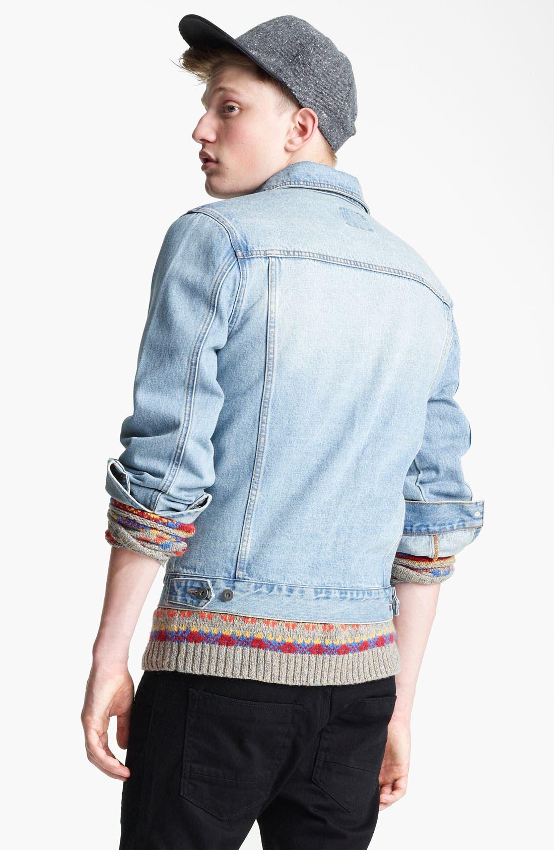 Alternate Image 2  - Topman 'Cavendish' Denim Jacket