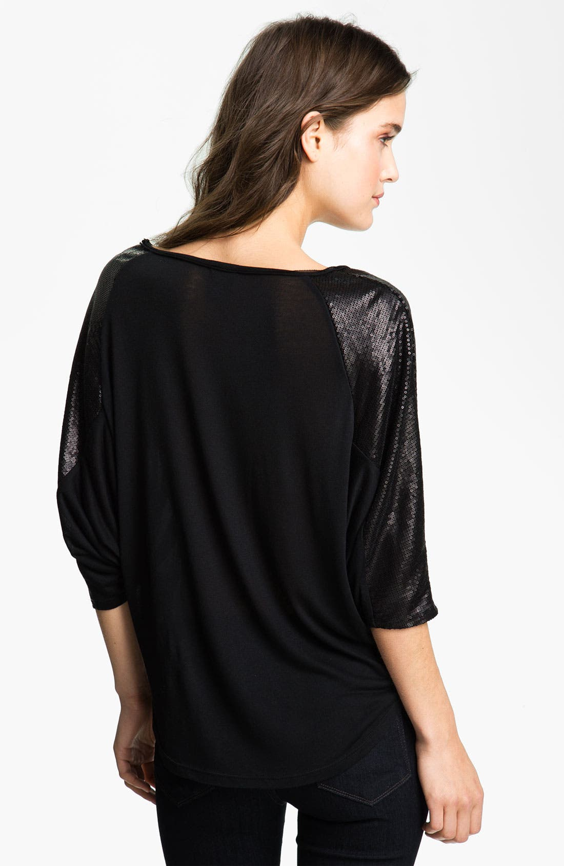 Alternate Image 2  - Ella Moss 'Cleo' Sequin Sleeve Top
