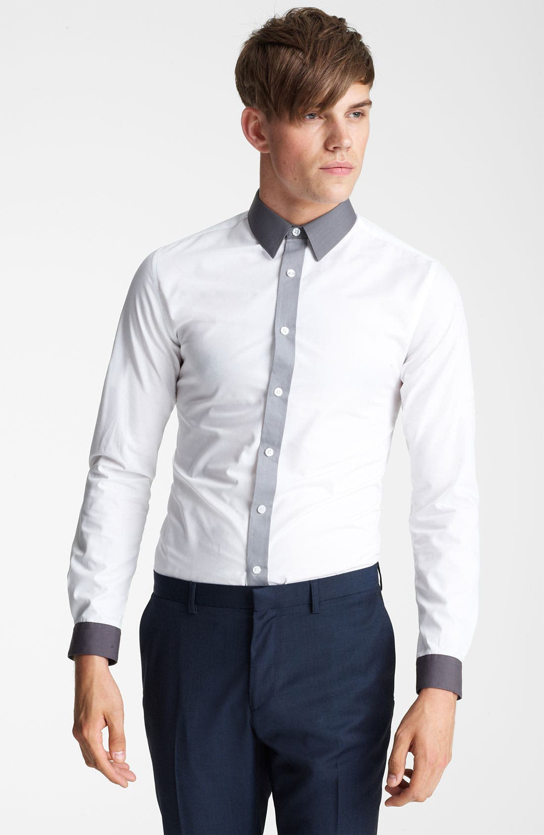 Alternate Image 1 Selected - Topman 'Darren' Extra Trim Dress Shirt