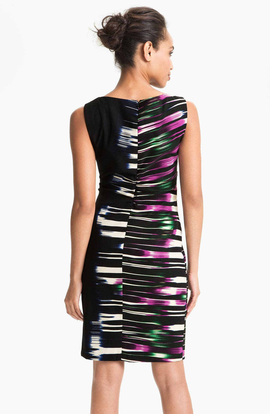 Alternate Image 2  - Kay Unger Side Print Woven Sheath Dress