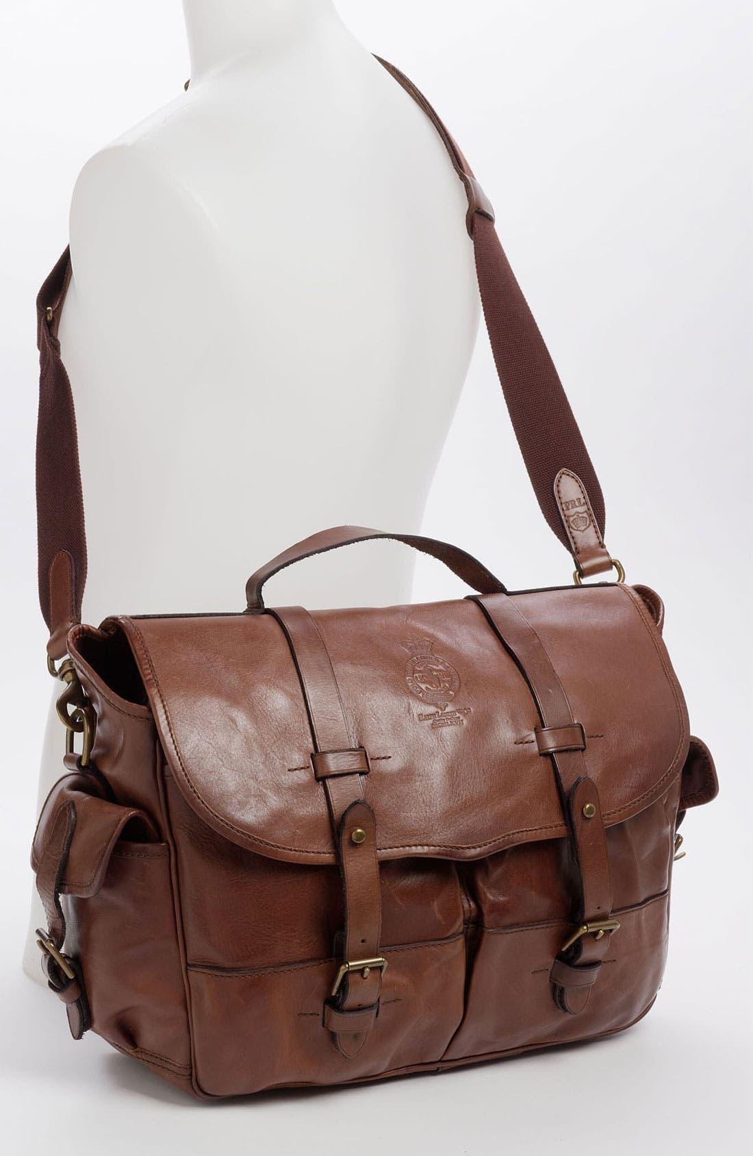 Alternate Image 2  - Polo Ralph Lauren Leather Briefcase