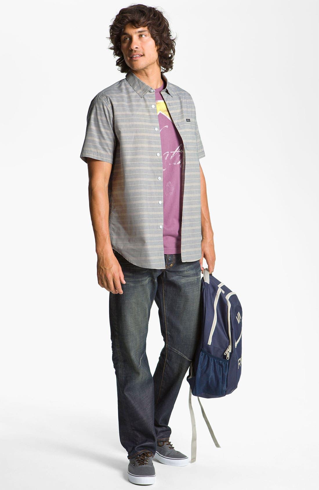 Alternate Image 2  - RVCA 'Mason' Stripe Woven Shirt