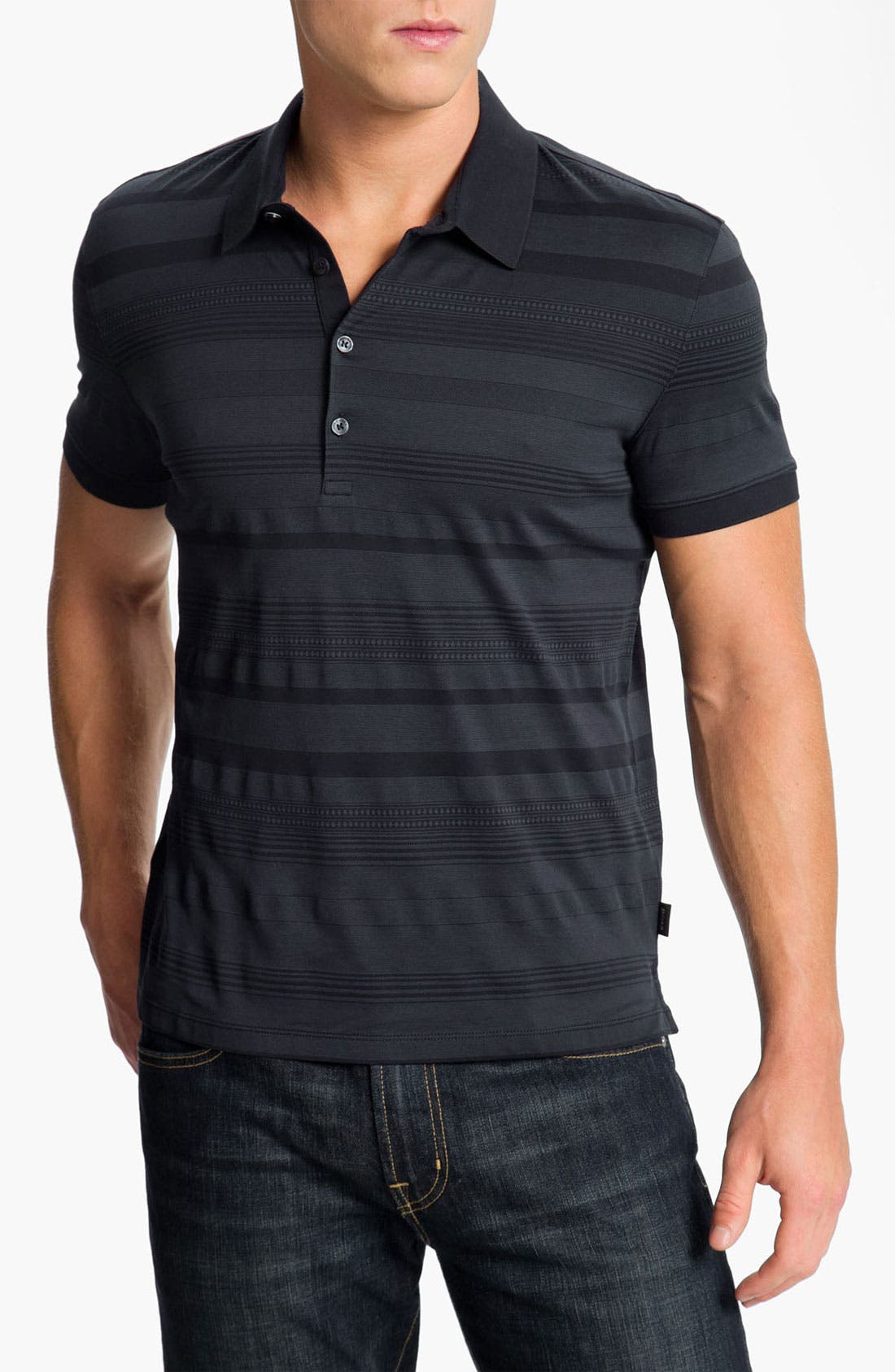 Main Image - BOSS Black 'Asinara 03' Slim Fit Polo