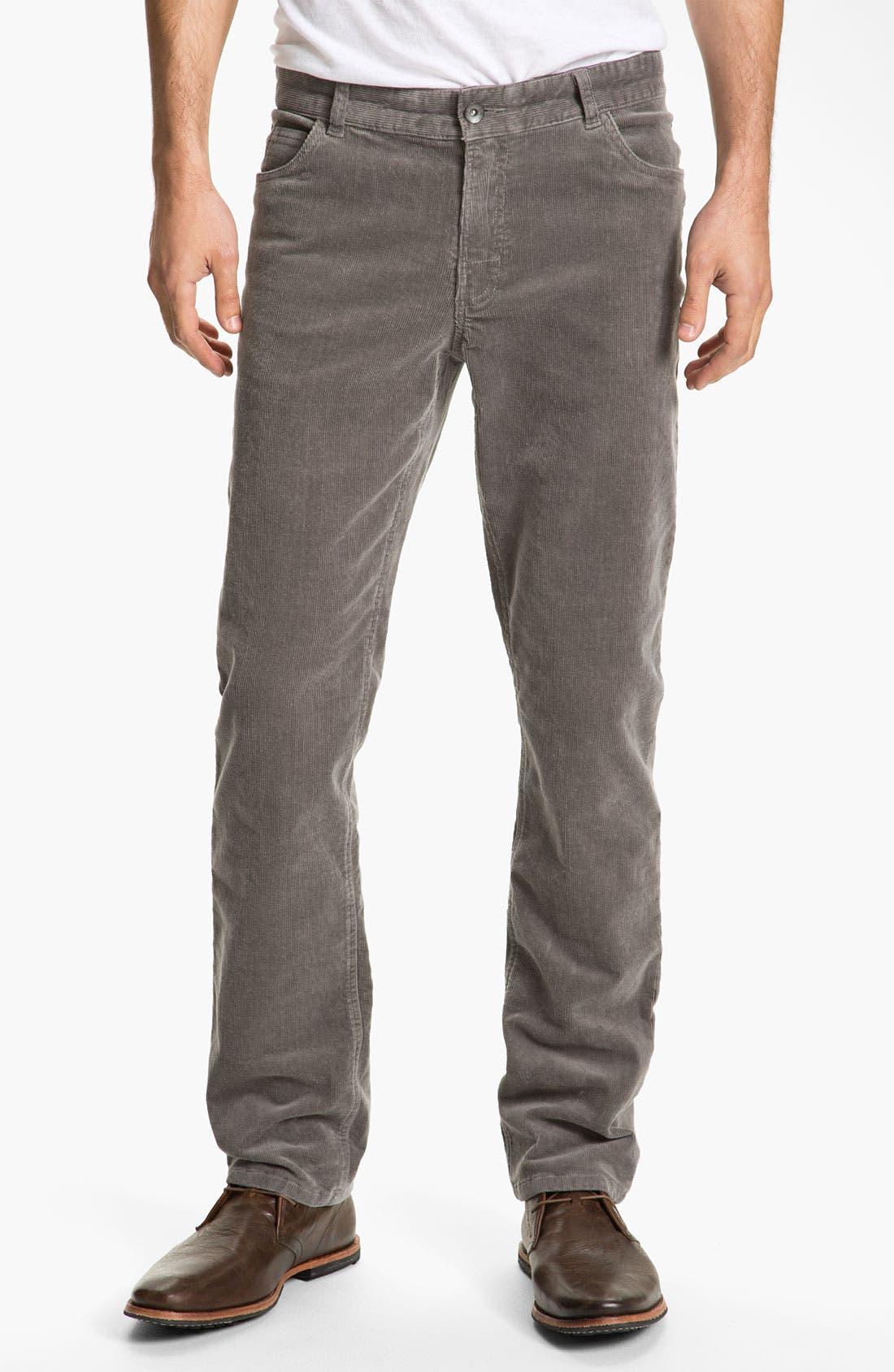 Alternate Image 2  - 1901 Straight Leg Corduroy Pants
