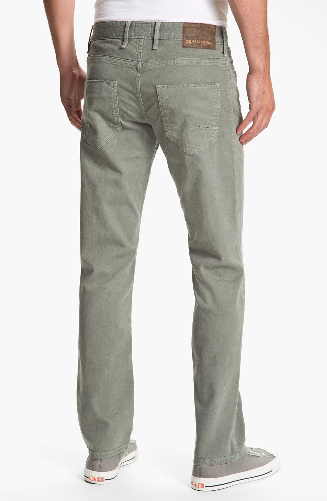 Main Image - BOSS Orange '24' Regular Straight Leg Pants