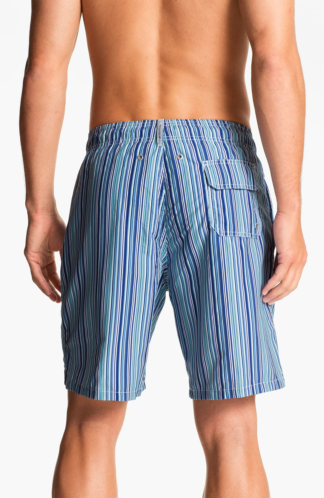 Alternate Image 2  - Bugatchi Uomo Stripe Board Shorts
