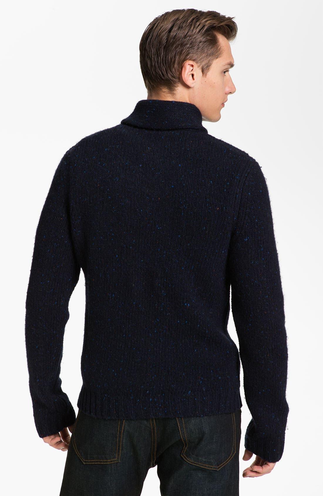 Alternate Image 2  - rag & bone 'Vail' Donegal Knit Shawl Collar Sweater