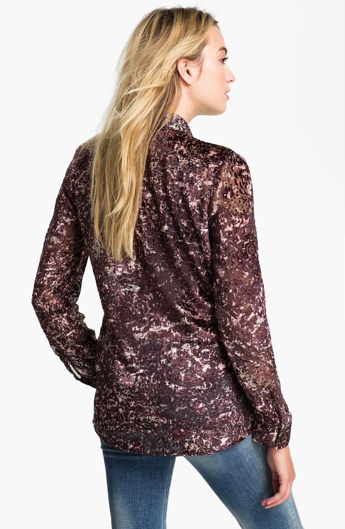 Alternate Image 2  - Hinge® Spatter Burnout Velvet Shirt