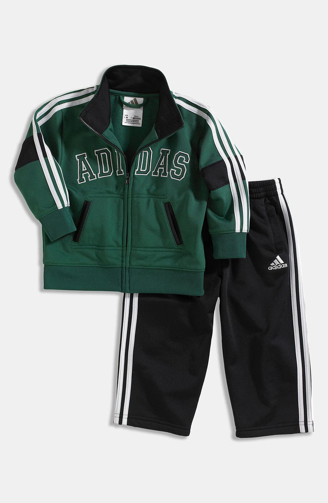 Alternate Image 1 Selected - adidas 'Fashion' Tricot Jacket & Pants (Toddler)