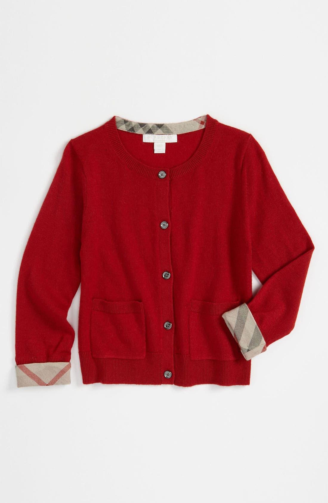 Alternate Image 1 Selected - Burberry Cardigan (Little Girls)