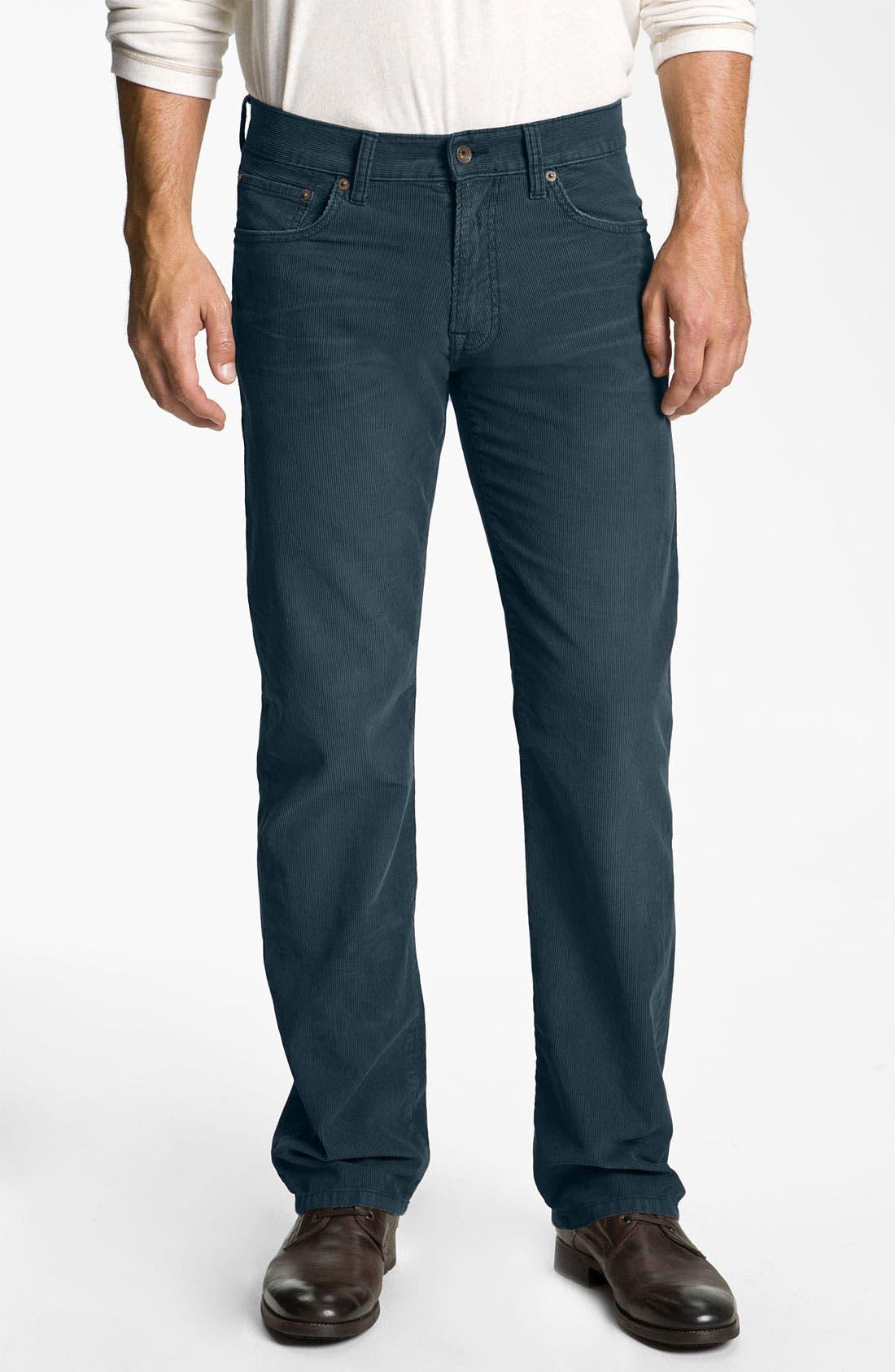 Alternate Image 1 Selected - Lucky Brand '221 Original' Straight Leg Corduroy Pants