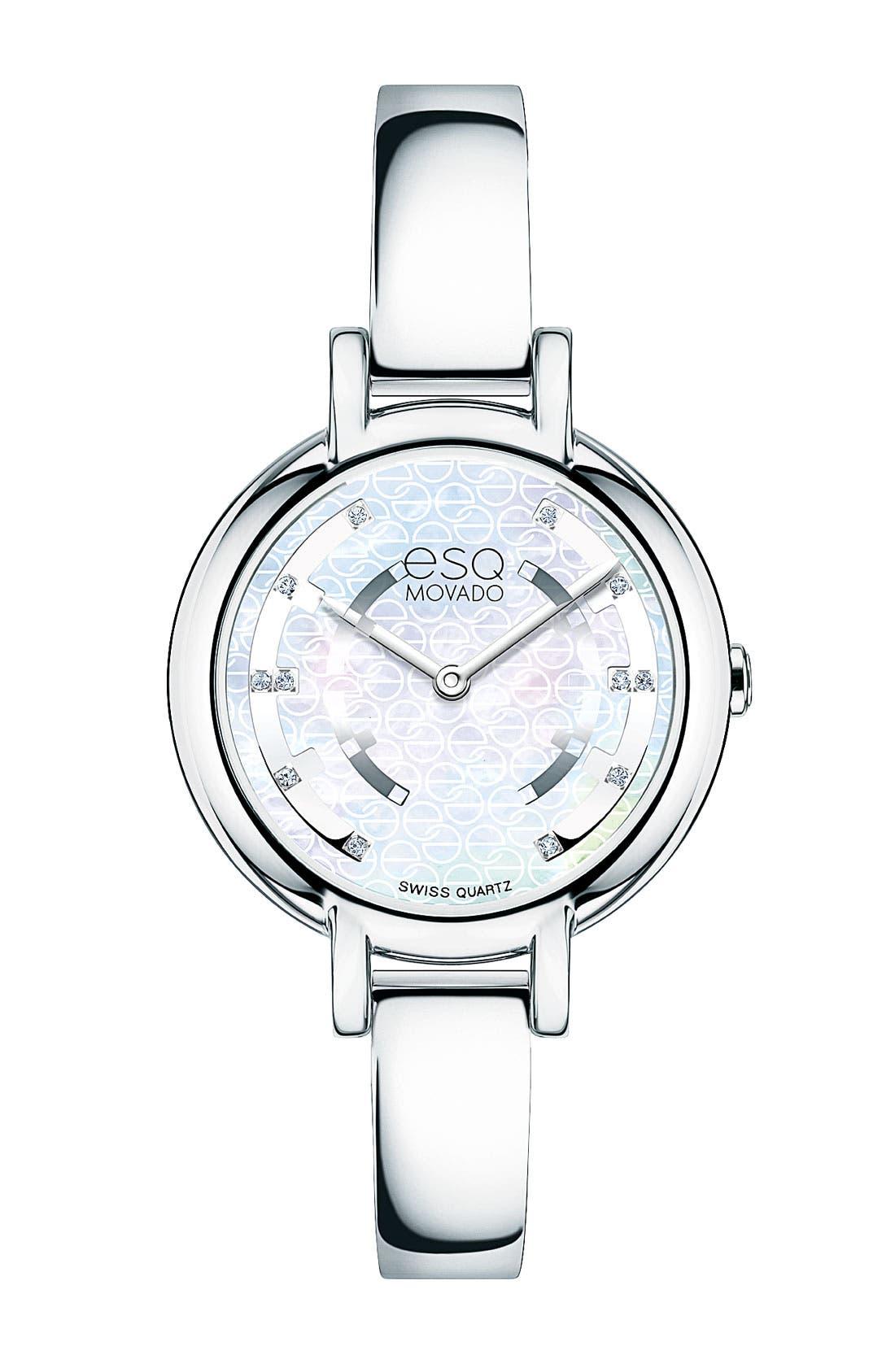 Main Image - ESQ Movado 'Contempo' Diamond Dial Bangle Watch