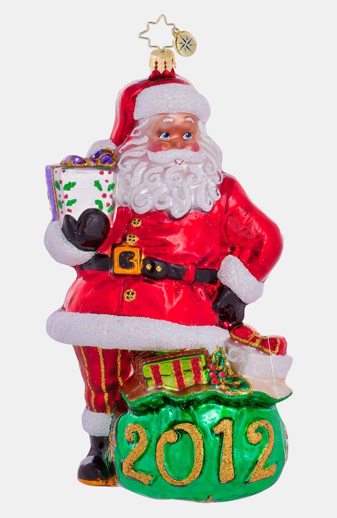 Alternate Image 1 Selected - Christopher Radko '2012 Santa' Ornament