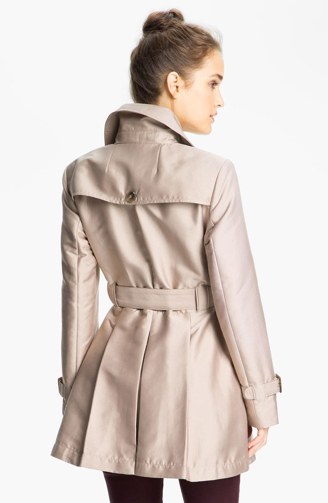 Alternate Image 2  - Kenneth Cole New York Double Breasted Skirted Trench (Online Exclusive)