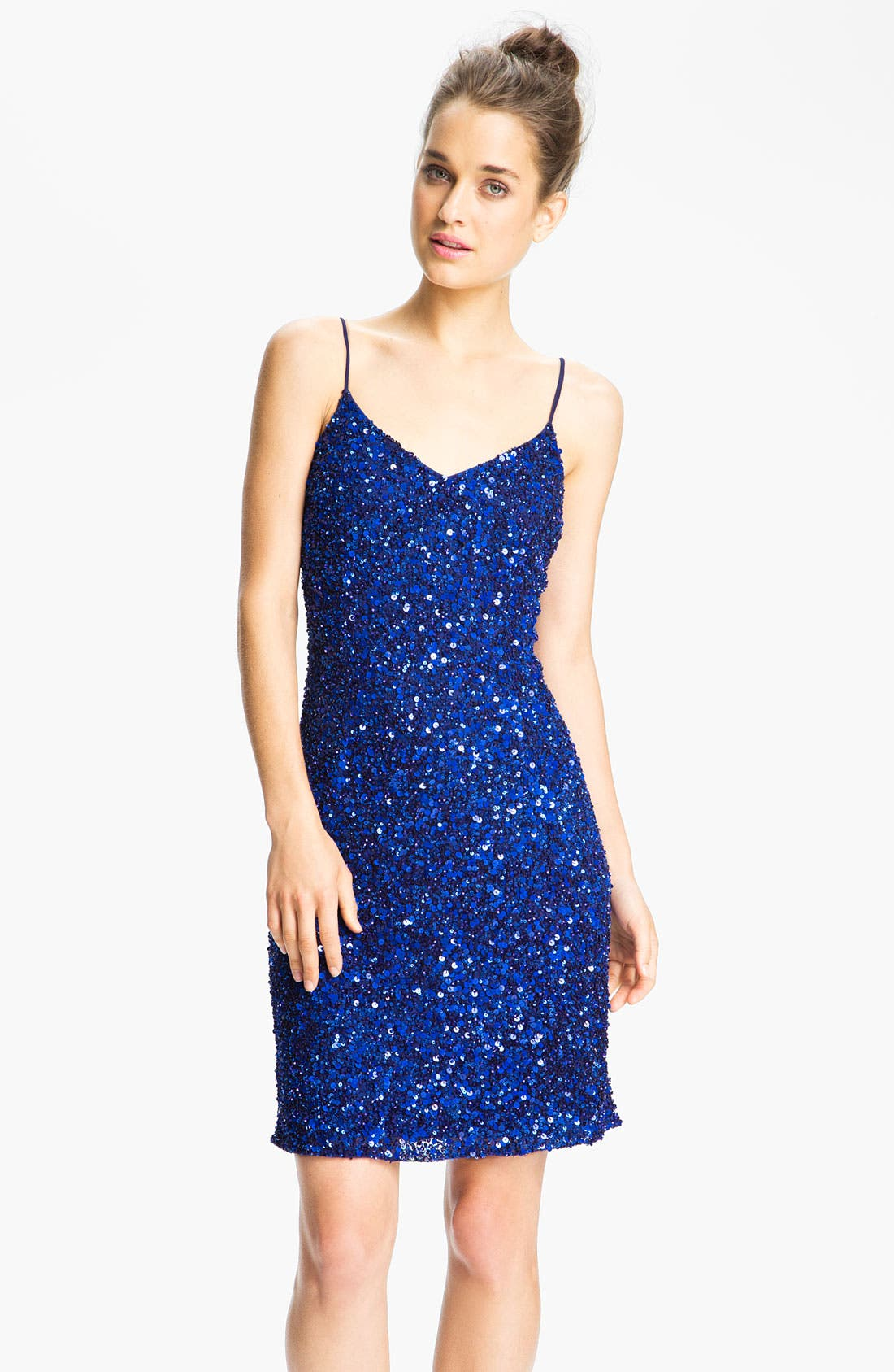 Alternate Image 1  - Pisarro Nights Spaghetti Strap Sequin Sheath Dress