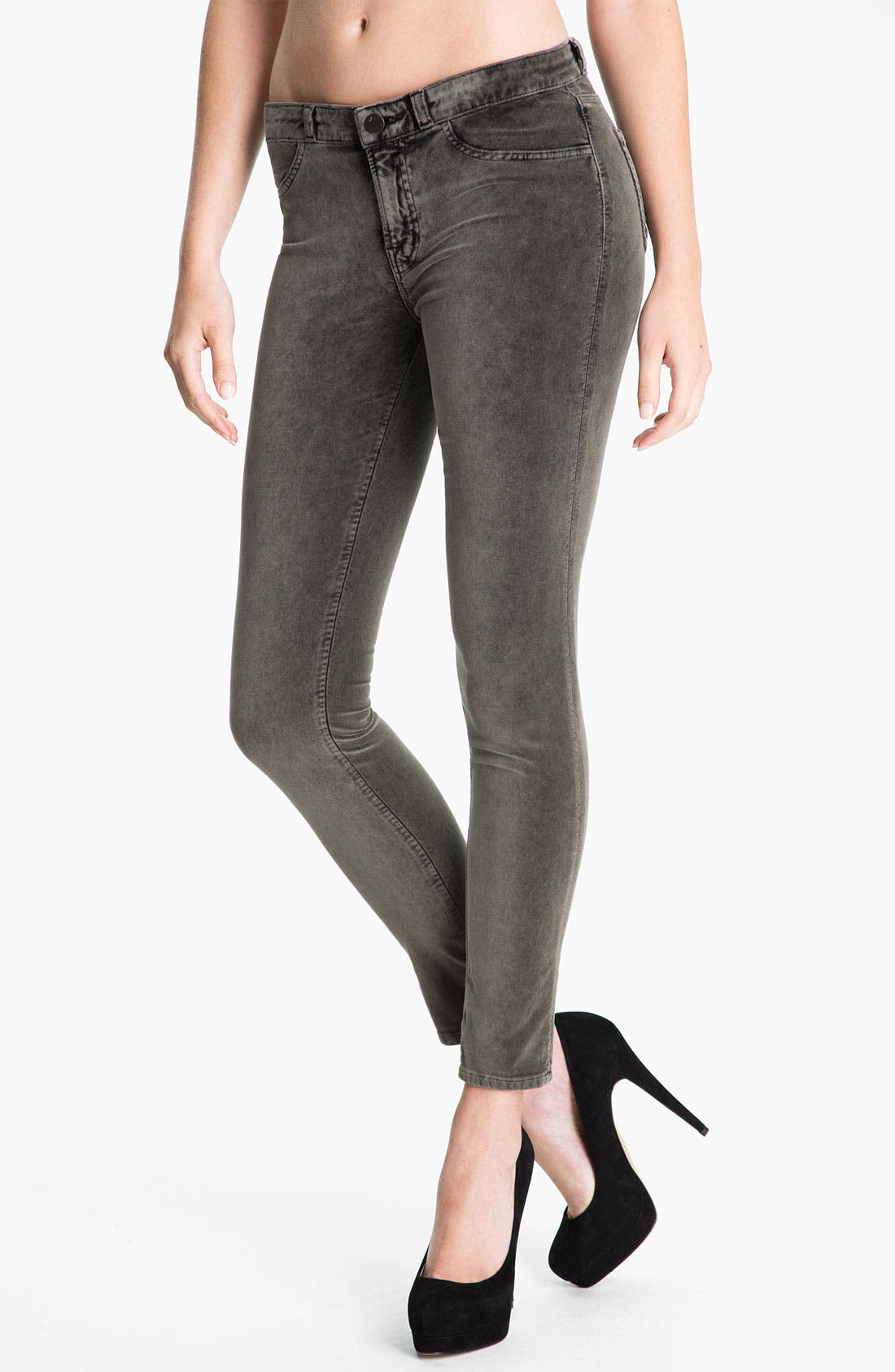 Alternate Image 1 Selected - J Brand Stretch Velvet Leggings