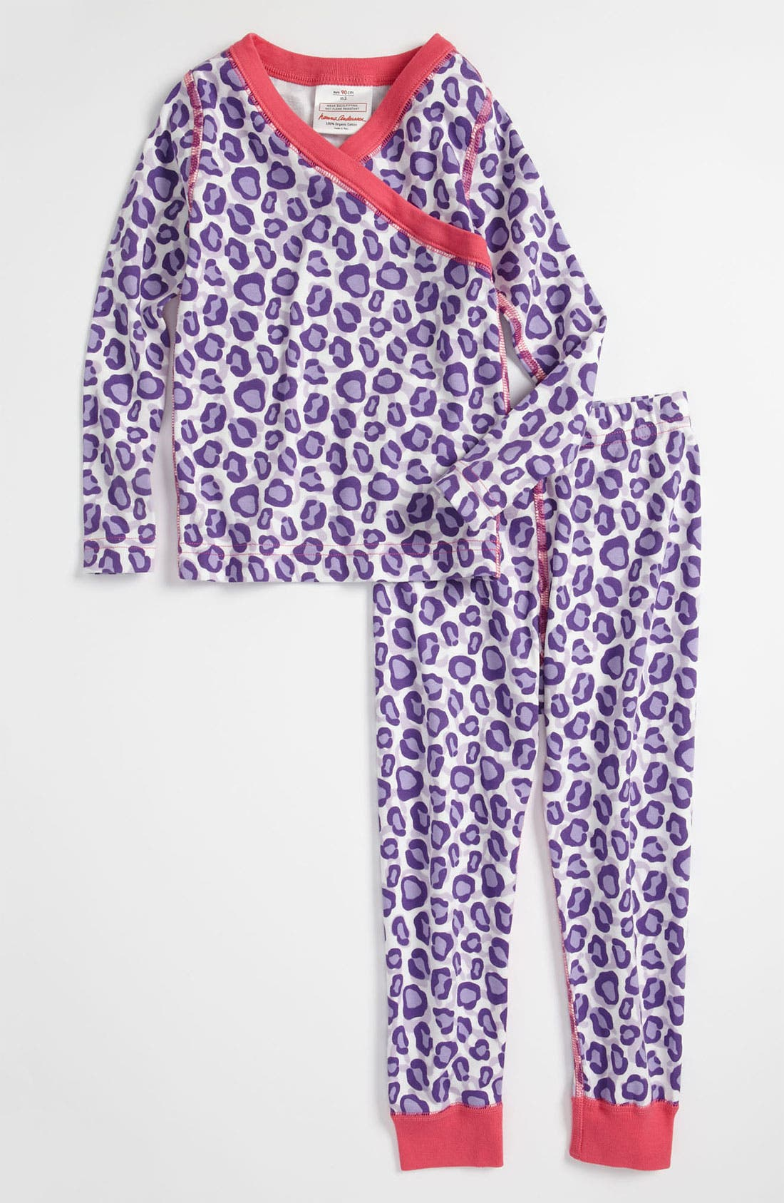 Alternate Image 1 Selected - Hanna Andersson Two Piece Fitted Pajamas (Toddler Girls)