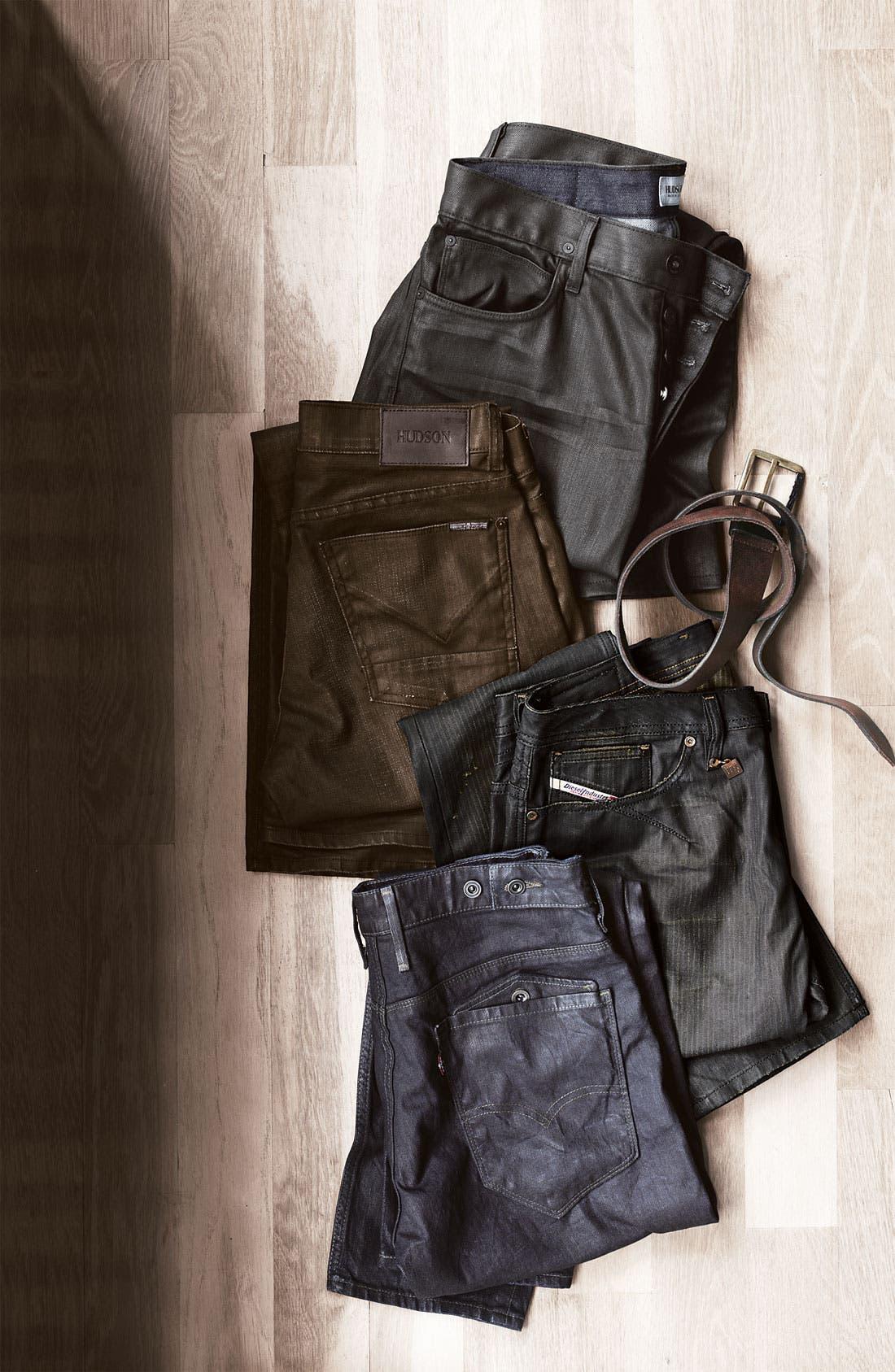 Alternate Image 5  - Hudson Jeans 'Dandy' Slouchy Straight Leg Jeans (Tar)