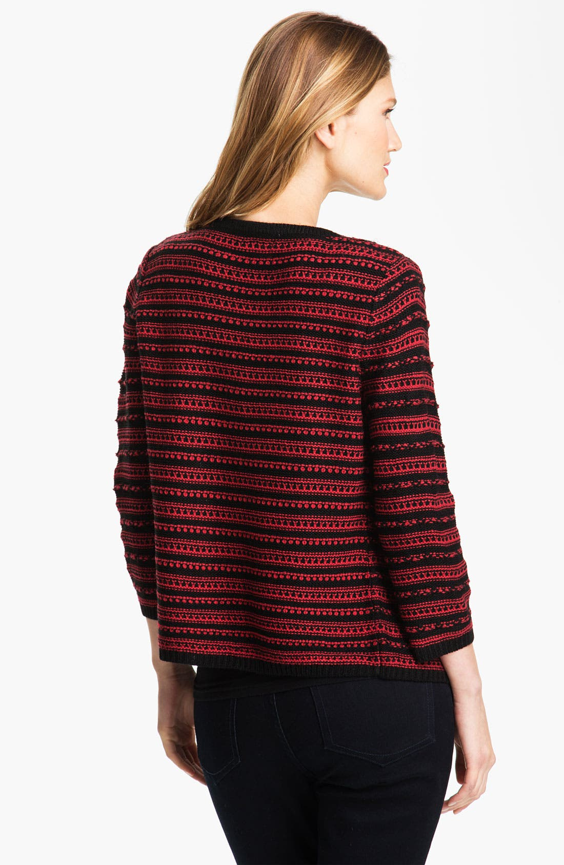 Alternate Image 2  - Bellefleur Textured Stripe Cardigan