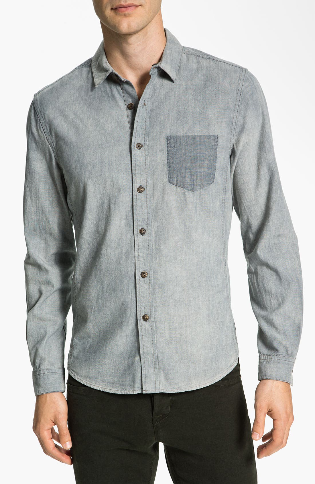 Alternate Image 1 Selected - life/after/denim Reversible Chambray Shirt