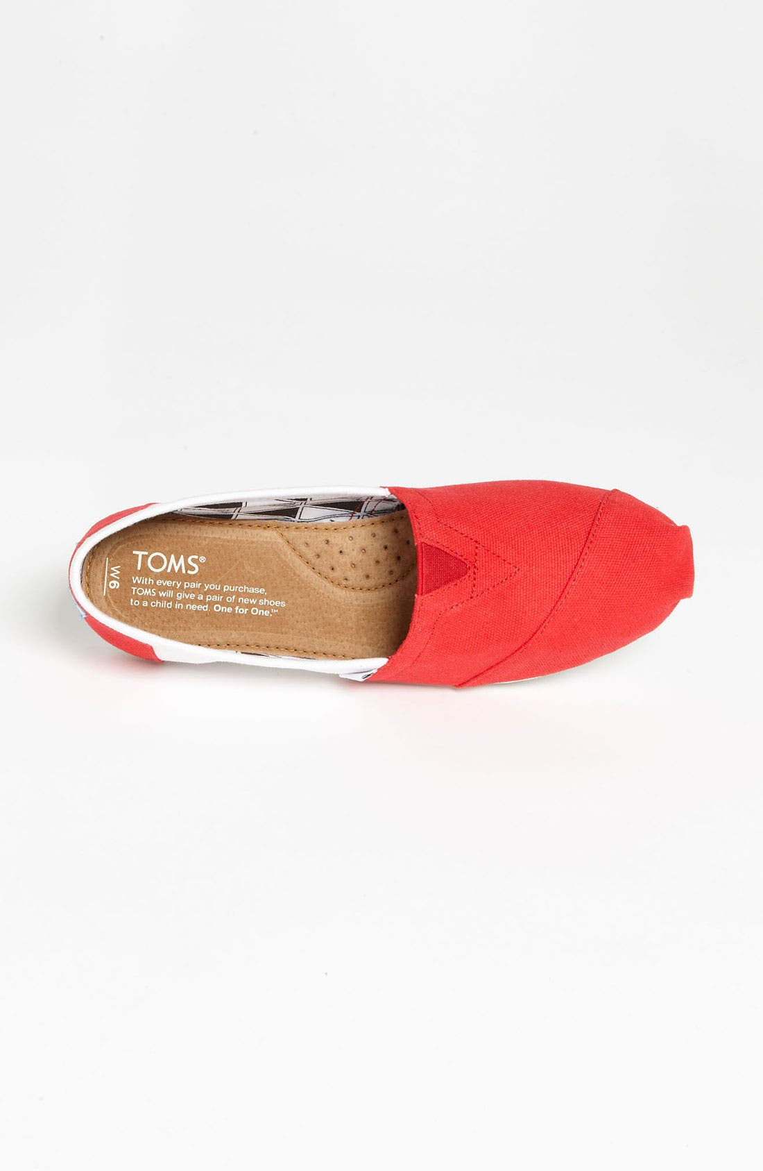 Alternate Image 3  - TOMS 'Campus Classics - University of Wisconsin' Slip-On (Women)