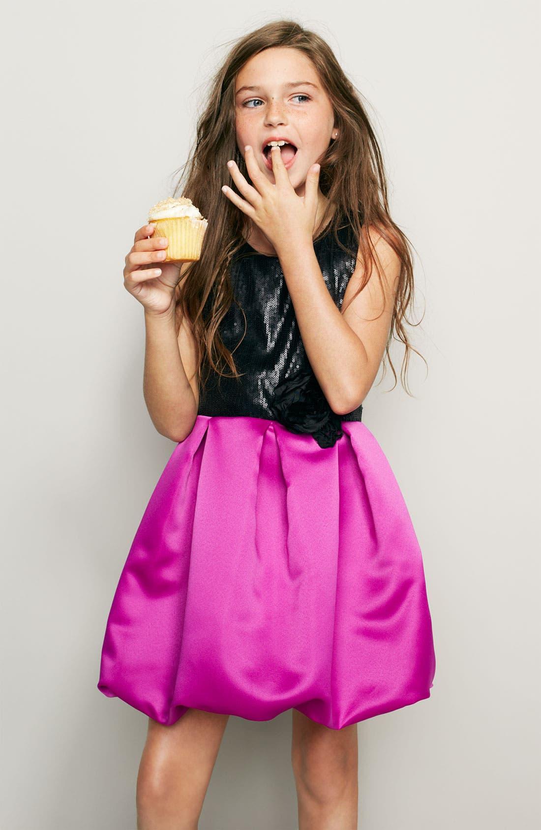 Main Image - Zunie Bubble Dress & Nordstrom Boot (Big Girls)