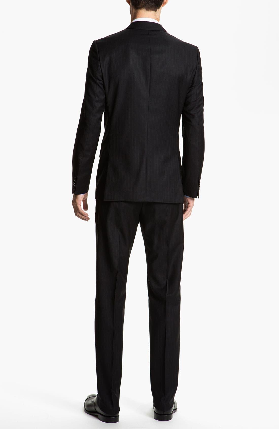 Alternate Image 3  - HUGO 'Amaro/Heise' Trim Fit Stripe Suit