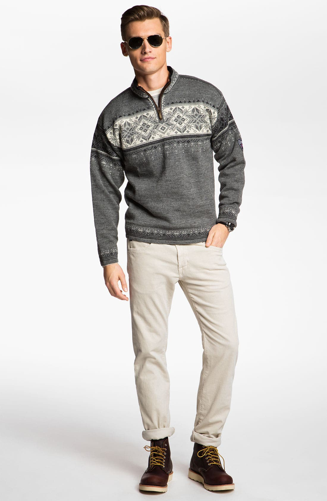 Alternate Image 5  - Dale of Norway 'Blyfjell' Quarter Zip Wool Sweater