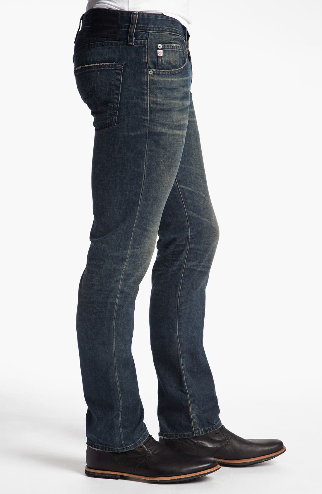 Alternate Image 3  - AG Jeans 'Matchbox' Slim Straight Leg Jeans (7 Year Coated Navy)