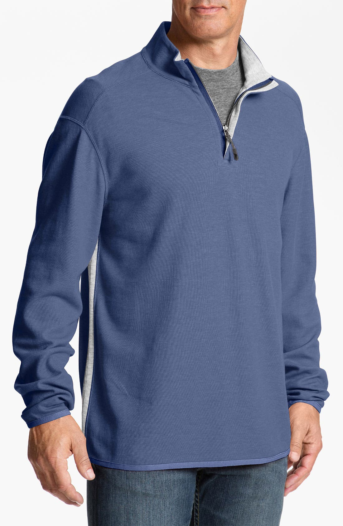 Alternate Image 1 Selected - Tommy Bahama 'Flip Out' Quarter Zip Pullover