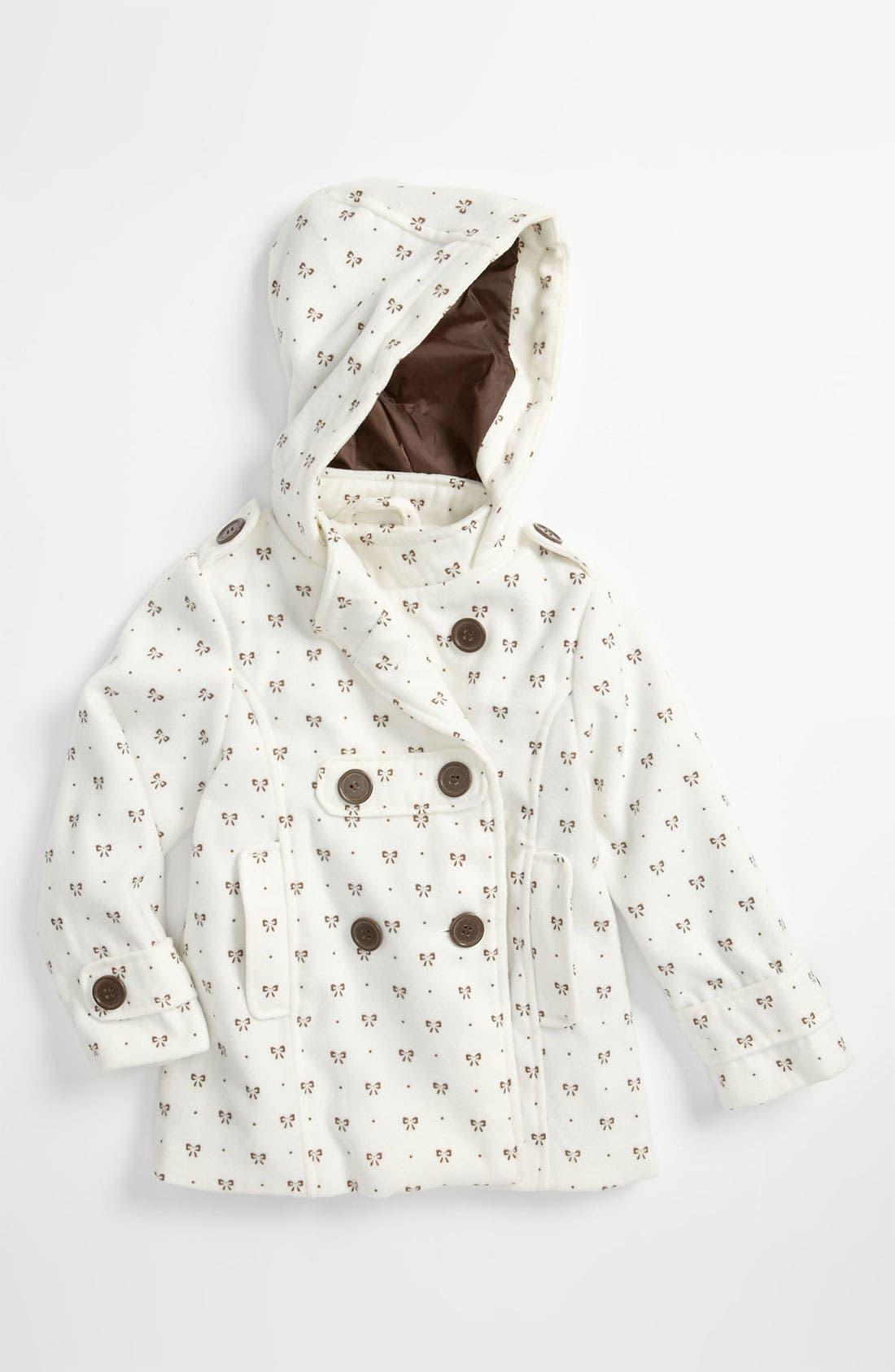 Main Image - Weatherproof® Print Peacoat (Little Girls)