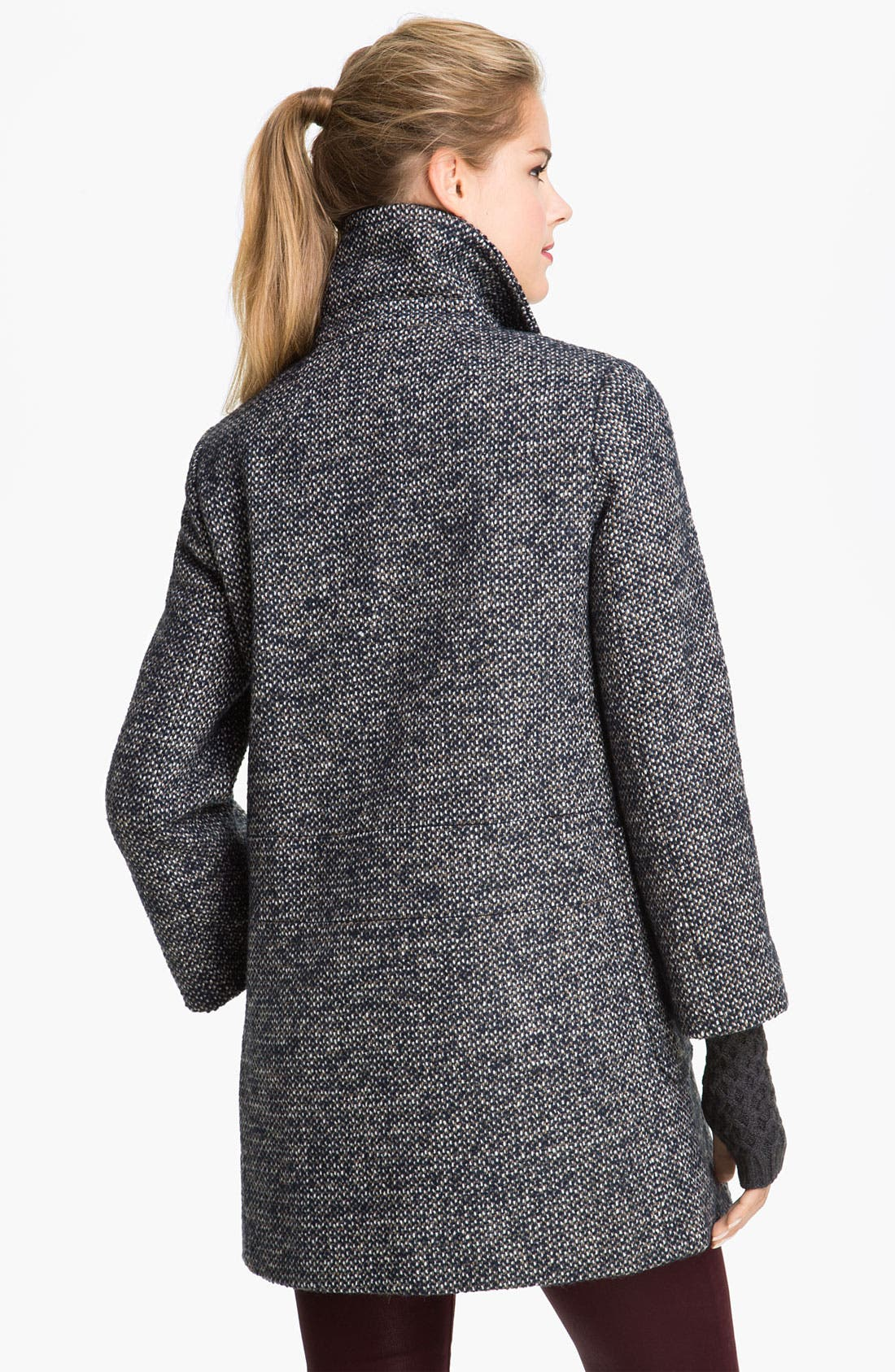 Alternate Image 2  - Calvin Klein Double Breasted Tweed Coat