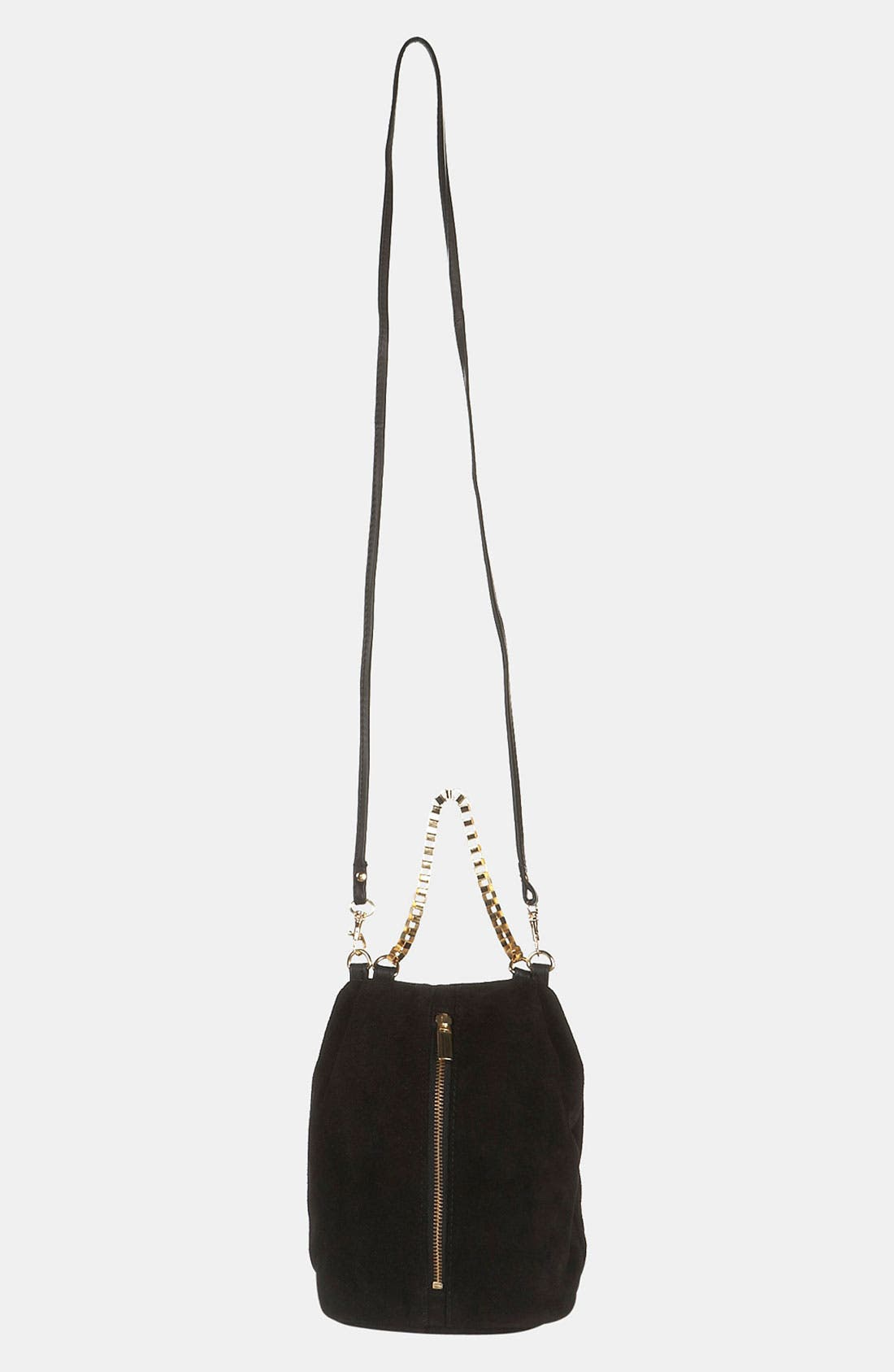 Alternate Image 2  - Topshop Box Chain Suede Bag