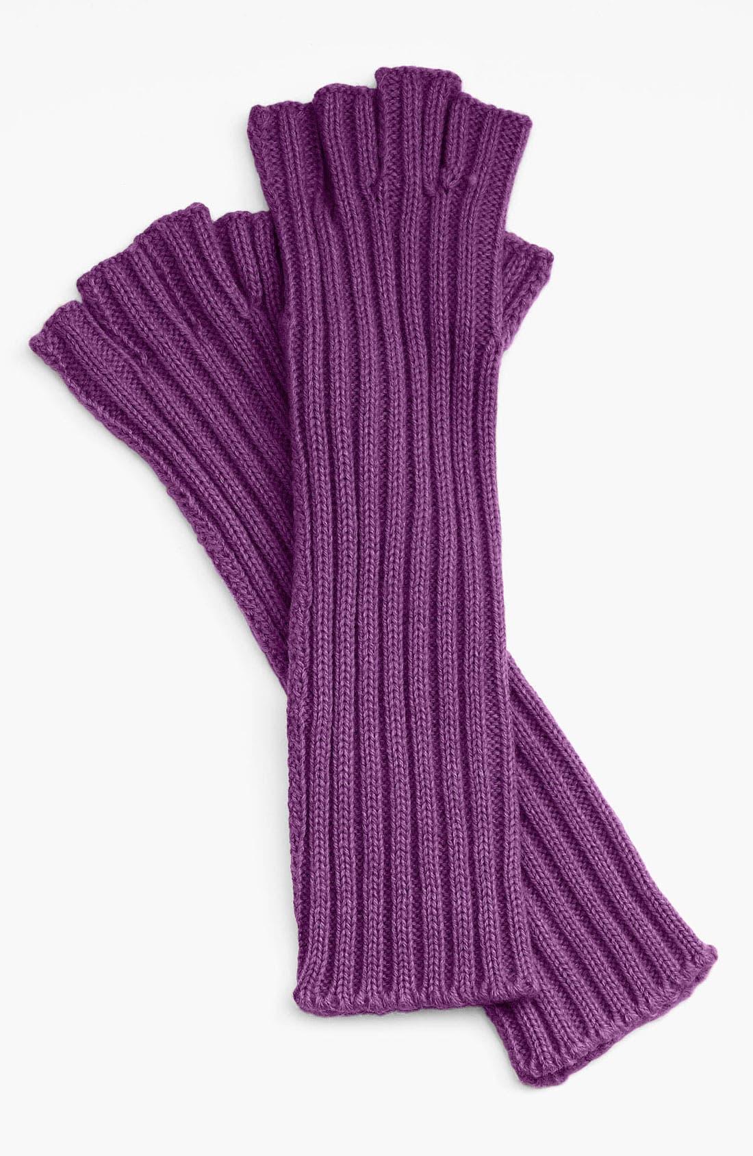 Alternate Image 1 Selected - Halogen® Ribbed Fingerless Gloves