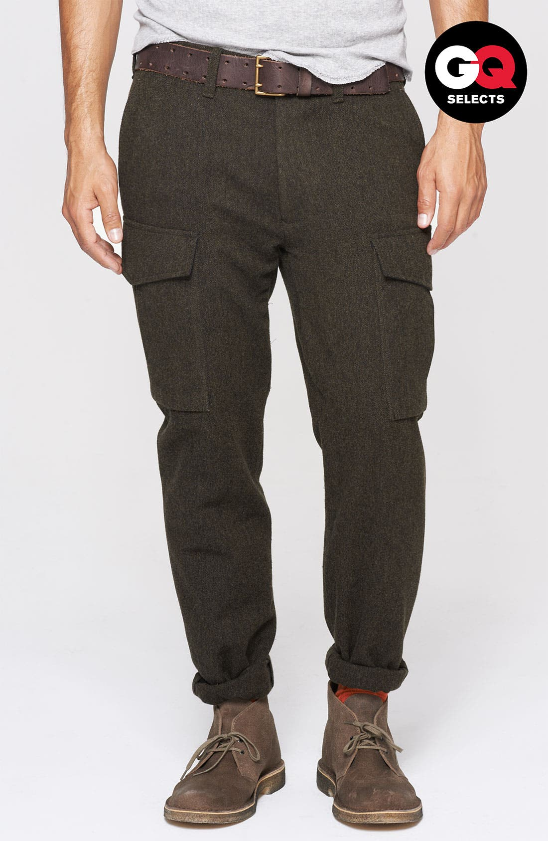 Alternate Image 1 Selected - Todd Snyder 'Officer' Wool Cargo Pants