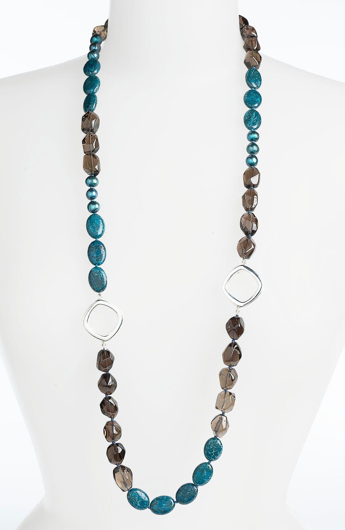 Main Image - Simon Sebbag 'Cyan' Long Colorblock Necklace