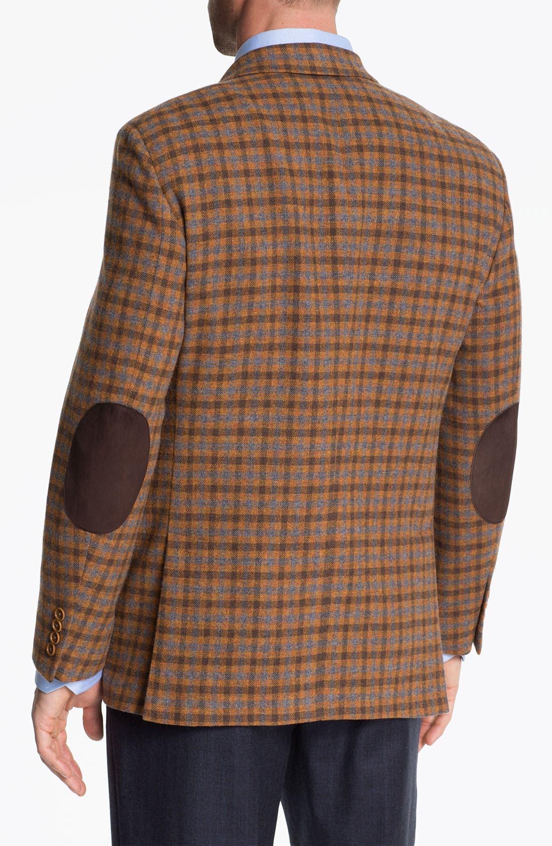 Alternate Image 2  - Robert Talbott Check Wool Sportcoat