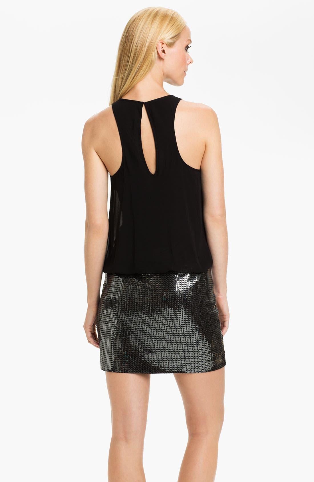 Alternate Image 2  - Aidan Mattox Sequin & Chiffon Blouson Dress