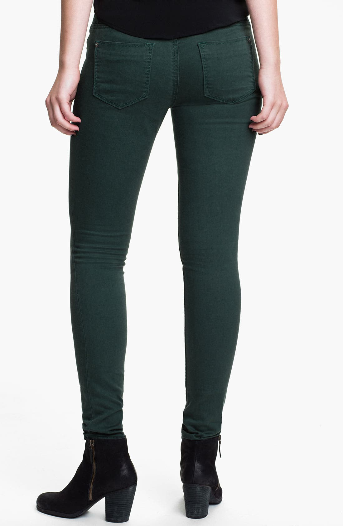 Alternate Image 1 Selected - Vigoss Color Skinny Jeans (Juniors) (Online Exclusive)