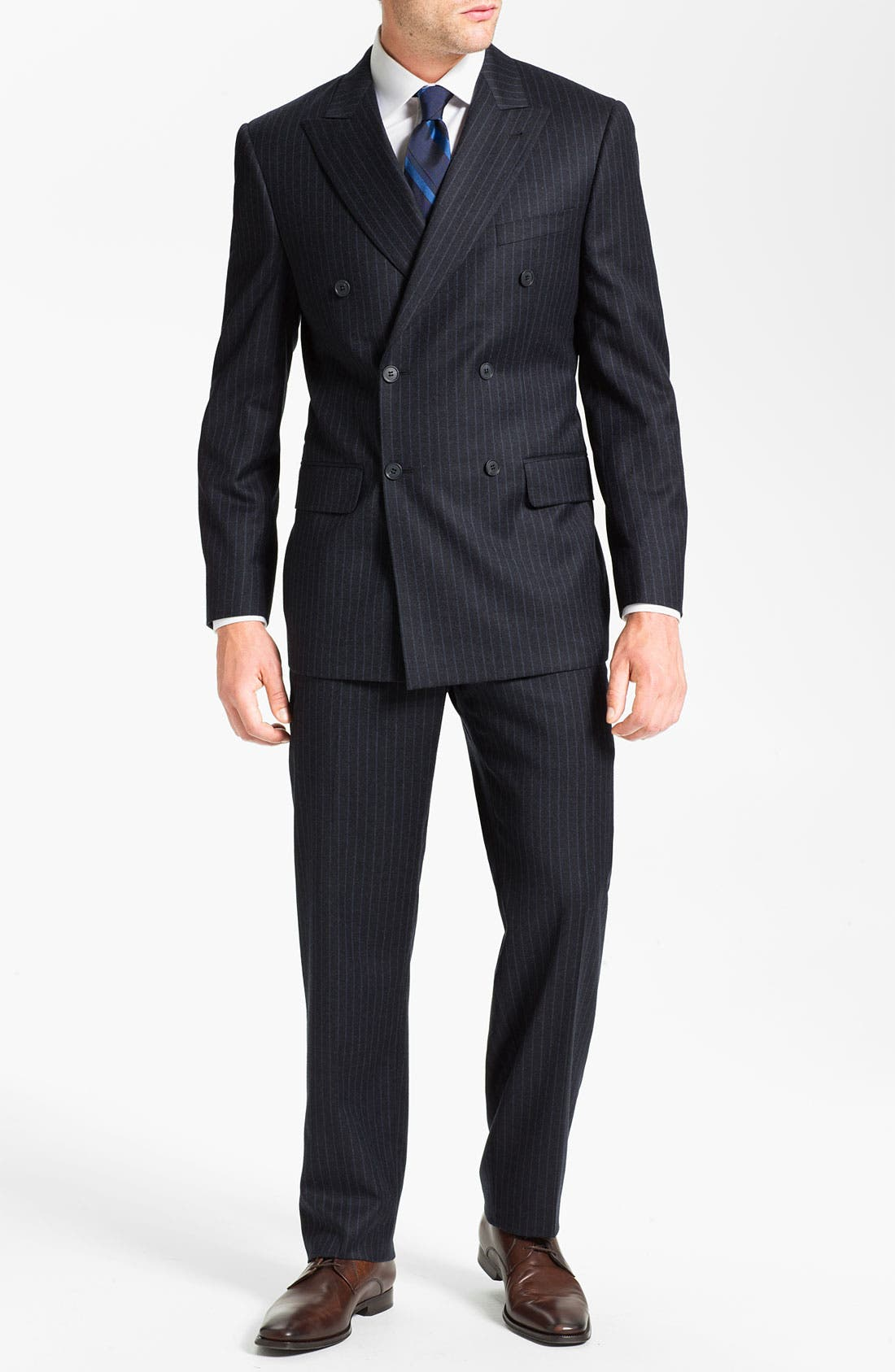 Alternate Image 2  - Joseph Abboud Double Breasted Pinstripe Suit