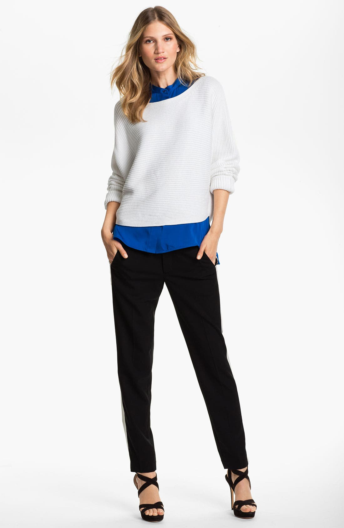 Alternate Image 1 Selected - Vince Ribbed Dolman Sweater