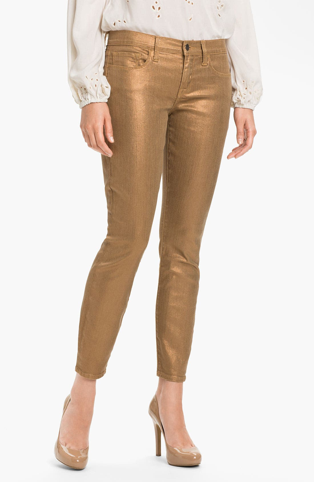 Alternate Image 1 Selected - Lucky Brand 'Sofia' Coated Sparkle Jeans (Online Exclusive)