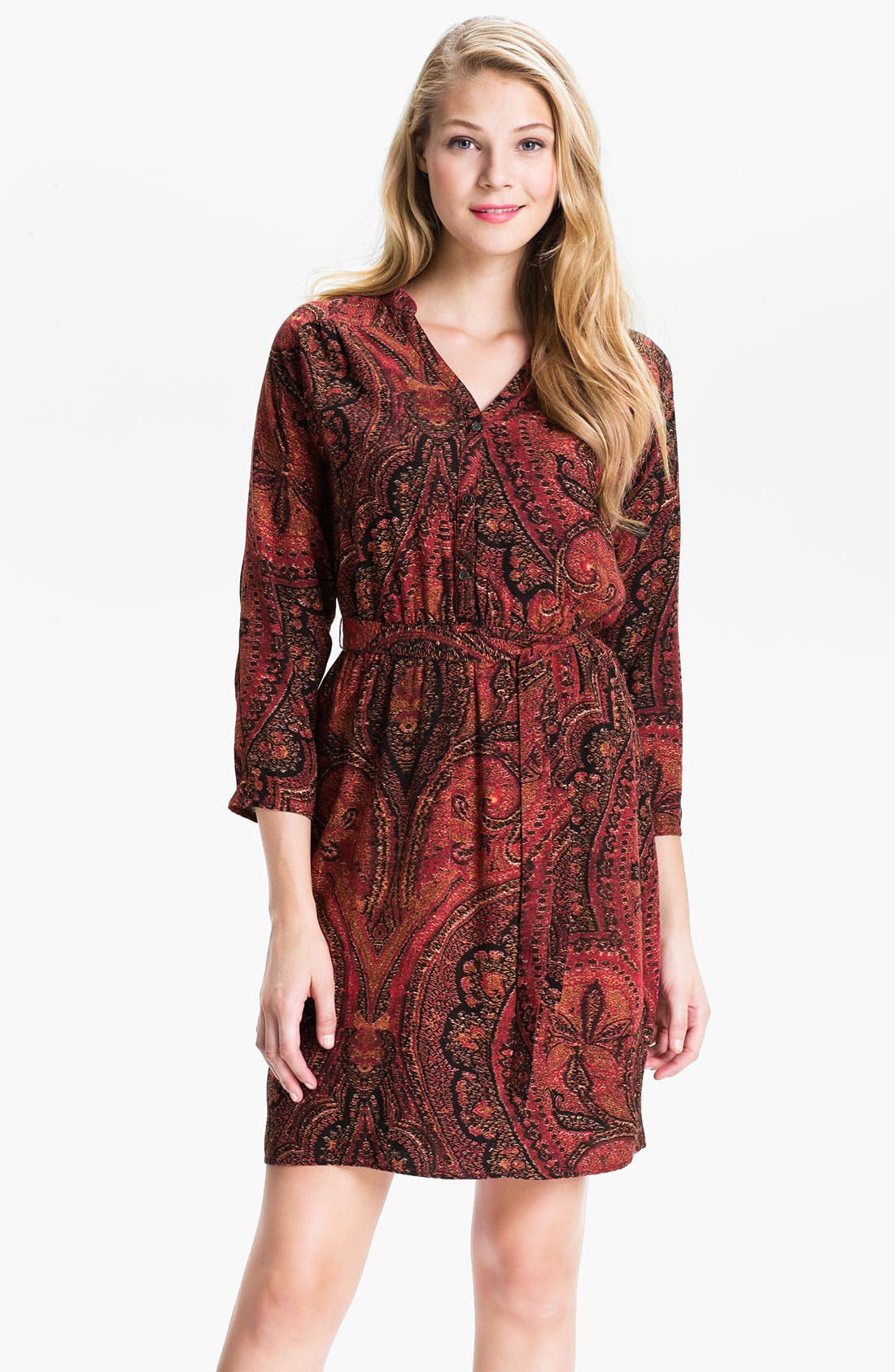 Alternate Image 1 Selected - Lucky Brand 'Oriental Rug' Shirtdress (Online Exclusive)