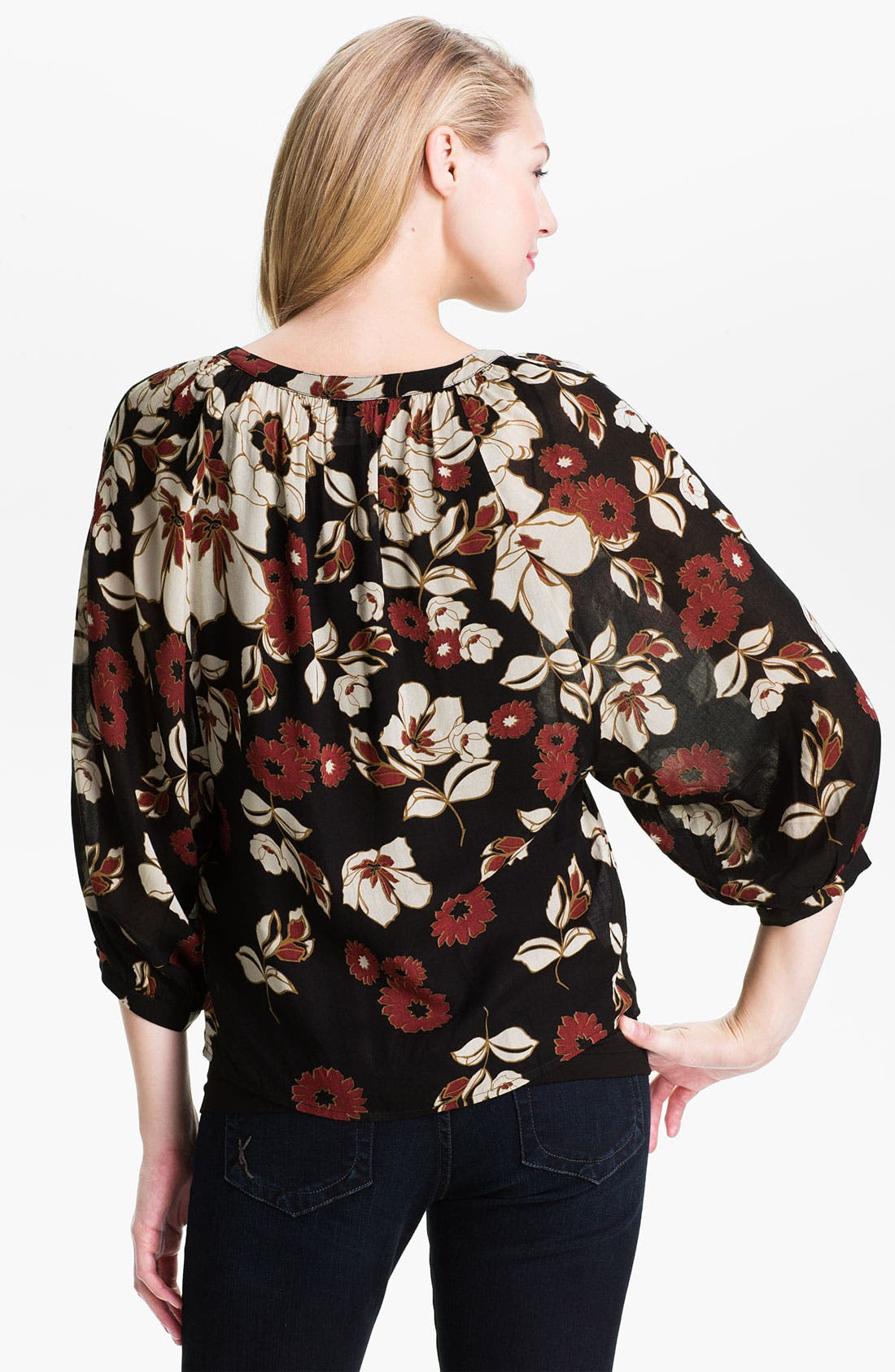 Alternate Image 2  - Lucky Brand 'The Traveler' Print Blouse