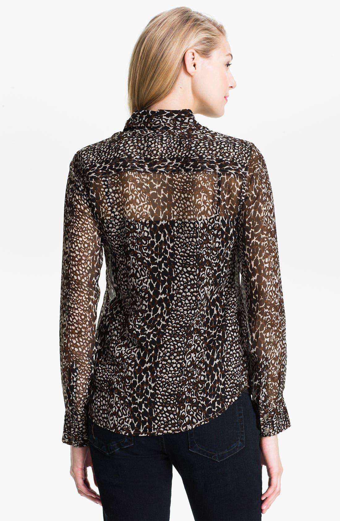 Alternate Image 2  - Lucky Brand 'Joan' Animal Print Silk Blouse