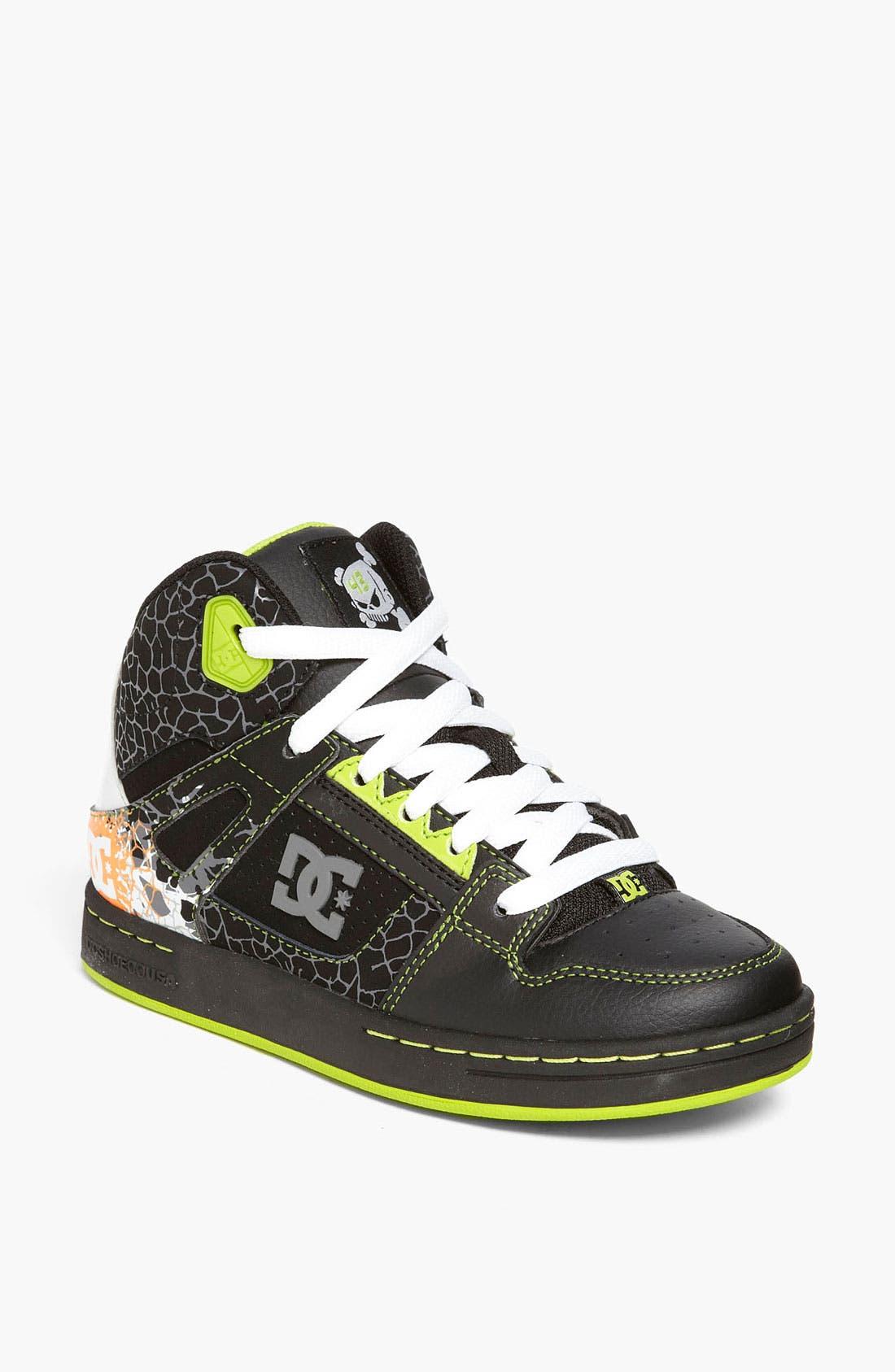 Alternate Image 1 Selected - DC Shoes 'Rebound' Sneaker (Toddler, Little Kid & Big Kid)